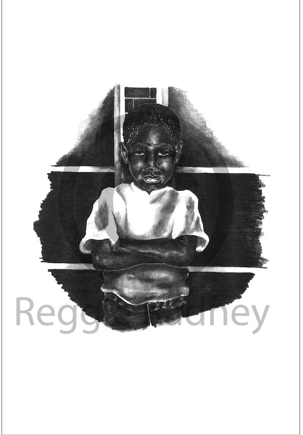 Serious Original Art Print by Reggie Radney